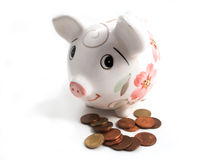 Piggy bank 2. Piggy bank to collect your savings on white Royalty Free Stock Photos