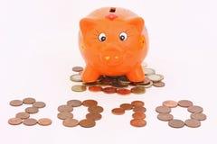 Piggy-bank in 2010 Royalty-vrije Stock Afbeeldingen