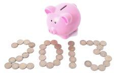 Piggy bank 2013 Stock Photography