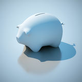 Piggy bank. 3d rendering image Royalty Free Stock Photo