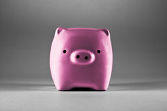 Piggy Bank. Pink piggy bank saving or money-box Royalty Free Stock Images