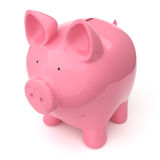 Piggy Bank. A pink piggy bank (money box) on white background. Computer generated image with clipping path Royalty Free Stock Photos