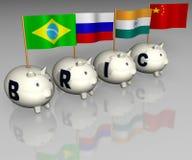 Piggy bank. Money saving, BRIC-Fonds, Investment Stock Images