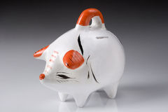 Piggy bank. Ceramic piggy bank to encourage the habit of savings Royalty Free Stock Image