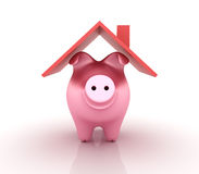 Piggy Bank. Three dimensional illustration of Piggy Bank Royalty Free Stock Photo