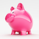 Piggy bank. On white background Royalty Free Stock Photo