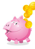 Piggy Bank. Pink piggy bank on a white background Royalty Free Stock Photography
