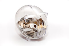 Piggy bank. Isolated on white background Royalty Free Stock Photos