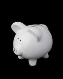 Piggy Bank. Image of piggy bank on black background stock photography