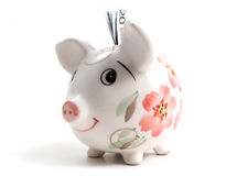 Piggy bank 4. Piggy bank to collect your savings on white Royalty Free Stock Photo