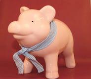 Piggy Bank. Bank with bandana Stock Photos
