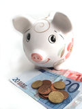 Piggy bank 5. Piggy bank to collect your savings on white Royalty Free Stock Photo