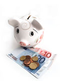 Piggy bank 6. Piggy bank to collect your savings on white Stock Image
