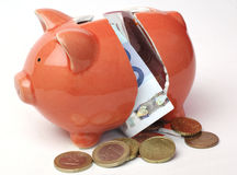 Piggy bank. Broken piggy bank  on white Stock Image