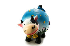 Piggy bank. Moneybox cow on a white background Royalty Free Stock Image