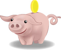 Piggy bank. A piggy bank vector illustration