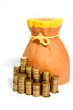 Piggy bank. And coins Stock Image