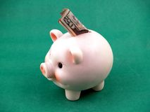 Piggy bank. Bank with money Royalty Free Stock Images