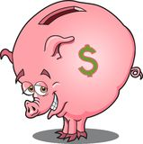 Piggy Bank. This is a fat piggy bank ready to be filled Stock Image