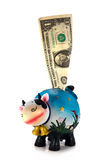 Piggy bank. Moneybox cow on a white background Royalty Free Stock Photography