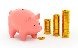 The Piggy Bank Account Stock Images