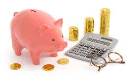 Piggy Bank Accounting Royalty Free Stock Image