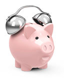 The piggy bank alarm Stock Photography