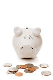 piggy Bank and American cents Stock Photography