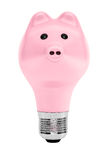 Piggy Bank as Light Bulb Stock Photography