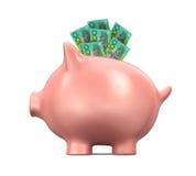 Piggy Bank with Australian Dollar Royalty Free Stock Photo