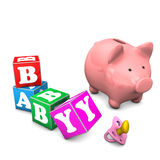 Piggy Bank Baby Stock Image