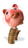 Piggy Bank Balance. Royalty Free Stock Photos