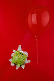 Piggy bank and balloon Stock Image