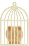 Piggy bank behind the cage Stock Photo