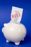 Piggy Bank and bills Royalty Free Stock Image