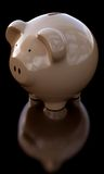 Piggy Bank on black Royalty Free Stock Image