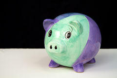 Piggy Bank on Black Stock Images