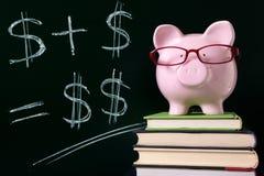 Piggy Bank with blackboard Stock Photos