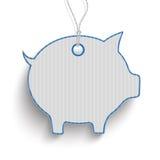 Piggy Bank Blue Price Sticker Stock Photography