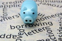 Piggy bank and borrow concept Royalty Free Stock Photography