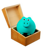 Piggy Bank in Box Stock Image