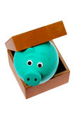 Piggy Bank in Box Royalty Free Stock Image