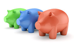 Piggy bank boxes set Stock Images