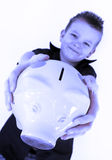 Piggy bank boy Stock Photography
