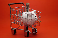 Piggy Bank Cart Royalty Free Stock Image