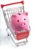 Piggy bank in cart Stock Photos
