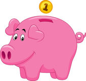 Piggy bank cartoon Royalty Free Stock Photo