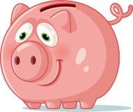 Piggy Bank Cartoon Vector Illustration. Penny bank toy money saving concept icon Stock Photography