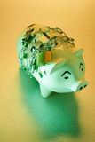 Piggy Bank with Chain and Lock Royalty Free Stock Images