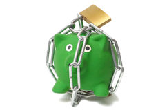 Piggy Bank in Chains Royalty Free Stock Image